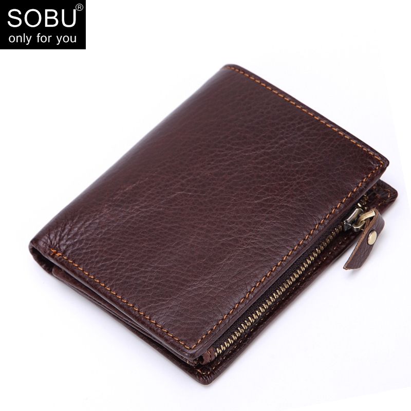 все цены на 2018 Casual Genuine Leather Wallet Vintage Small Coin Purse Cowhide Men Wallets Male Short Slim Zipper Wallet Card Holder N107 онлайн
