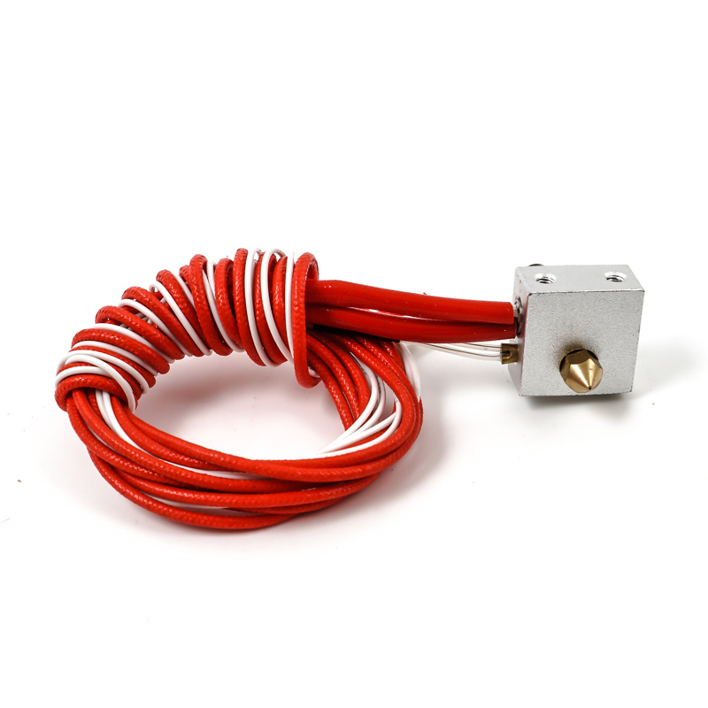 3D printer MK8 Extruder hot end kit 0.4mm nozzle heating E3D Prusa i3 Extruder DIY Accessories with XH2.54 2PI Terminal