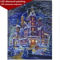 LED Light Full Round Drill 5D DIY Diamond Painting 30x40cm