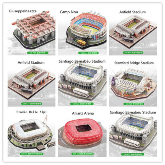 3D Puzzle European Soccer Club Liverpool Venues DIY Model Puzzle Toy Paper Building Stadium Football Soccer Assemble Game Gifts