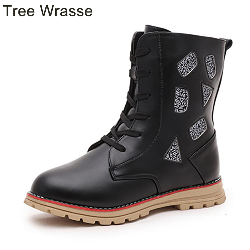 Tree Wrasse Kids/Girls boots winter children snow boots fashion girls Martin boots anti-slip students warm cotton shoes 2016 new fashion children martin boots girls boys winter shoes kids rain boots pu leather kids sneakers waterproof anti skid
