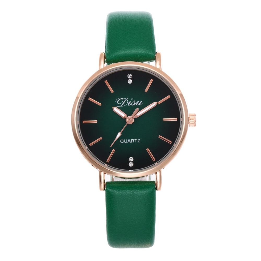 DISU marca Vestido Mujer relojes creativos Casual cuarzo señoras reloj  niñas amantes reloj pulsera mujer reloj de pulsera relogo femenino en  Relojes de ... 35c5bafc72da