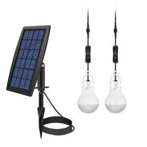 Солнечная энергия Светодиодная лампа Солнечный свет сарая/солнечный свет сарая лампа лагеря (2 светодиодные лампы)