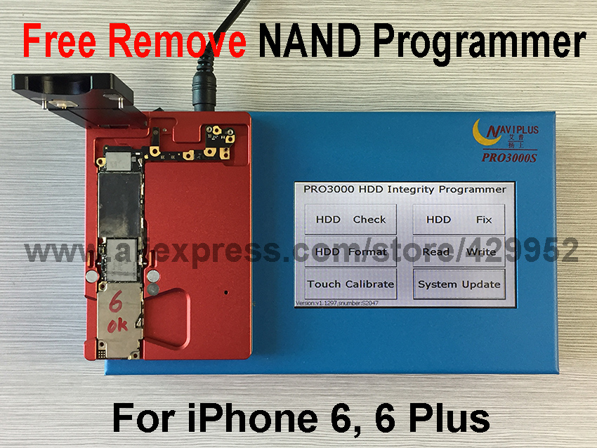 Free NAND Remove 32 64 Bit NAND Flash IC Chip Programmer Repair Motherboard HDD Serial Number SN Model for iPhone 6/6 Plus iPad 2017 version pcie nand flash chip programmer tool kits machine fix repair hdd ic serial number for iphone 5se 6s 7 plus ipad pro