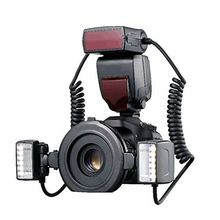 YN24EX E TTL Twin Lite Macro Camera Flash Speedlite for Canon Cameras Dual Flash Head+4pcs Adapter Rings for 1Dx 5D3 6D 7D 70D(China)