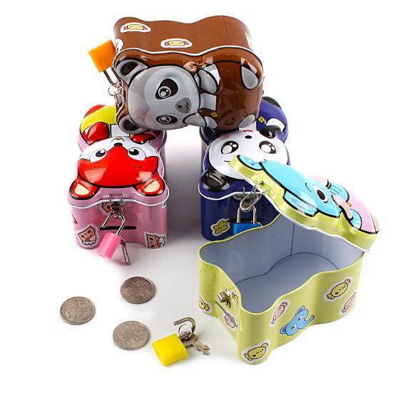 1PC Money Box Safes Coins Piggy Bank Despicable Me Cash Box Tirelire Tin Metal Piggy Bank Cofre De Moeda for Child LG 008