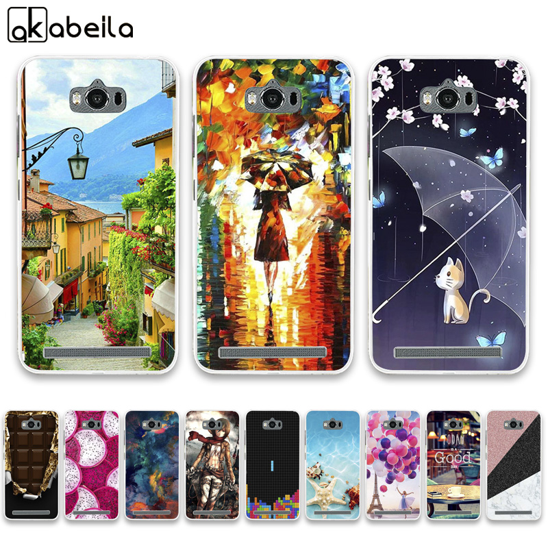 Phone Case For <font><b>Asus</b></font> Zenfone Max ZC550KL Cases Silicone Bumper For <font><b>ASUS</b></font>_Z010DD <font><b>Z010D</b></font> Z010DA Covers Flamingo Nutella Fundas Coque image