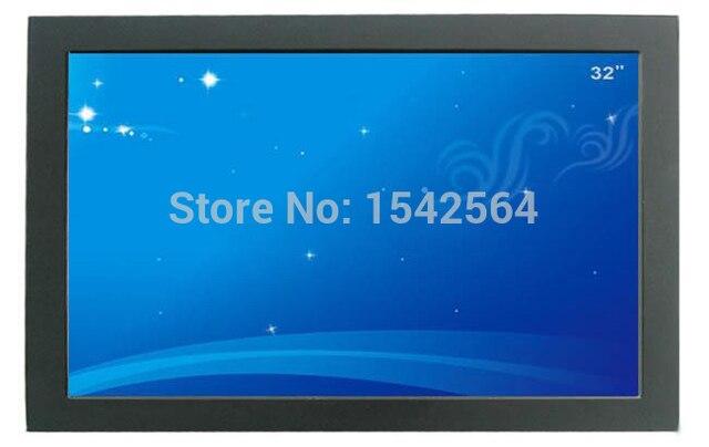 32 polegada de boa qualidade LED TFT de toque quadro monitor com av, Vga, Interface HDMI