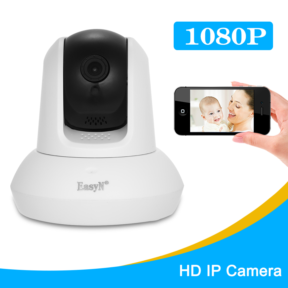 EasyN HD 1080P Wireless WIFI IP Camera Home Security IP Camera 2pcs Array IR Lamps Network Camera Support PTZ P2P Night View-in Surveillance Cameras from Security & Protection    1
