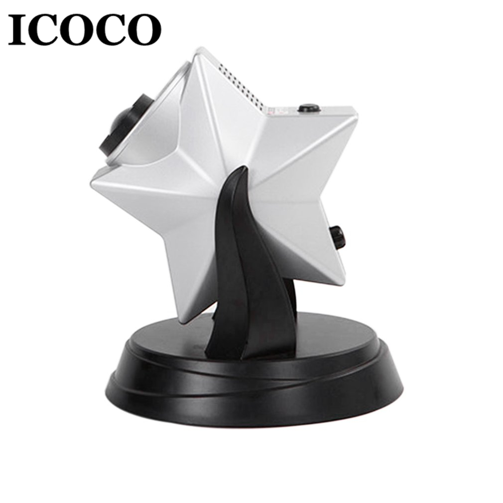 ICOCO New Romantic Star Twilight Sky Projector LED Night Light Laser Light Dimmable Flashing Atmosphere Drop Shipping icoco usb charging romantic led hourglass time record atmosphere night light desk lamp birthday gift hot sale drop shipping