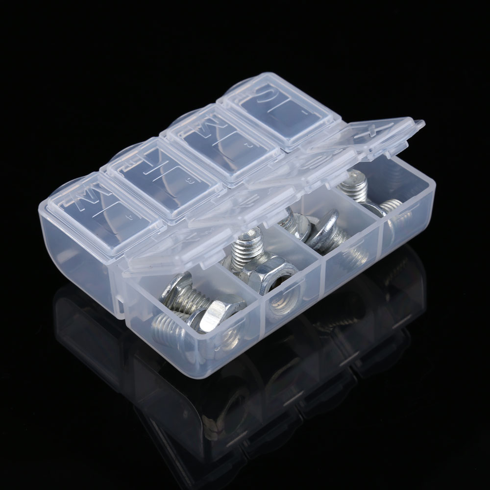 Mini Plastic Tool Box Transparent Toolbox Electronic Components SMD Screw Storage Box