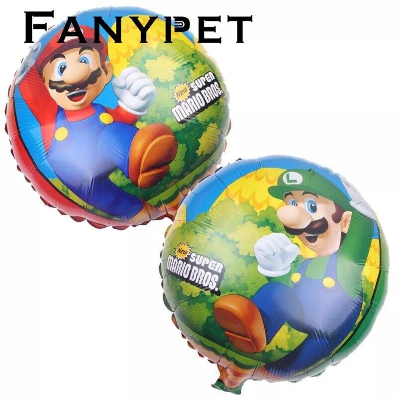 50 teile//los 18 zoll Super Mario Ballon Klassische Spielzeug Mario Bros Mylar Luftballons Geburtstag Party Dekoration Luftballons Kid Spielzeug 45 cm