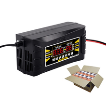 Full Automatic Car Battery Charger 12V 6A Smart Fast Power Charging Suitable for car motorcycle With EU Plug