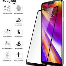 Round Edge Glass sFor LG G7 Screen Protector Tempered Glass For LG G7 G 7 2018 G710 Full Cover Prote