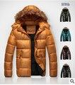 2015 nueva otoño invierno moda hombre con capucha desmontable hombre acolchado tendencia abrigo por la chaqueta para hombre invierno ropa # v2