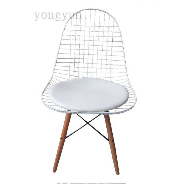 Envío libre Charles Silla de alambre minimalista moda moderna ...