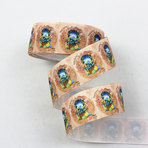 9mm/16mm/22mm/25mm/38mm/75mm Pisanki druku ryps wstążka 10/25/50 jardów DIY prezent wrap szycia wedding decor wstążka