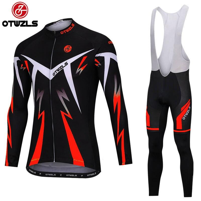 Spring cycling bib set men 2018 MTB bike bicycle riding jersey and bib pants pro cycling set high quality breathable fabric