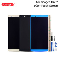 Alesser For Doogee Mix 2 LCD Display and Touch Screen Replacement Mobile Phone Accessories +Tools +Adhesive For Doogee Mix 2