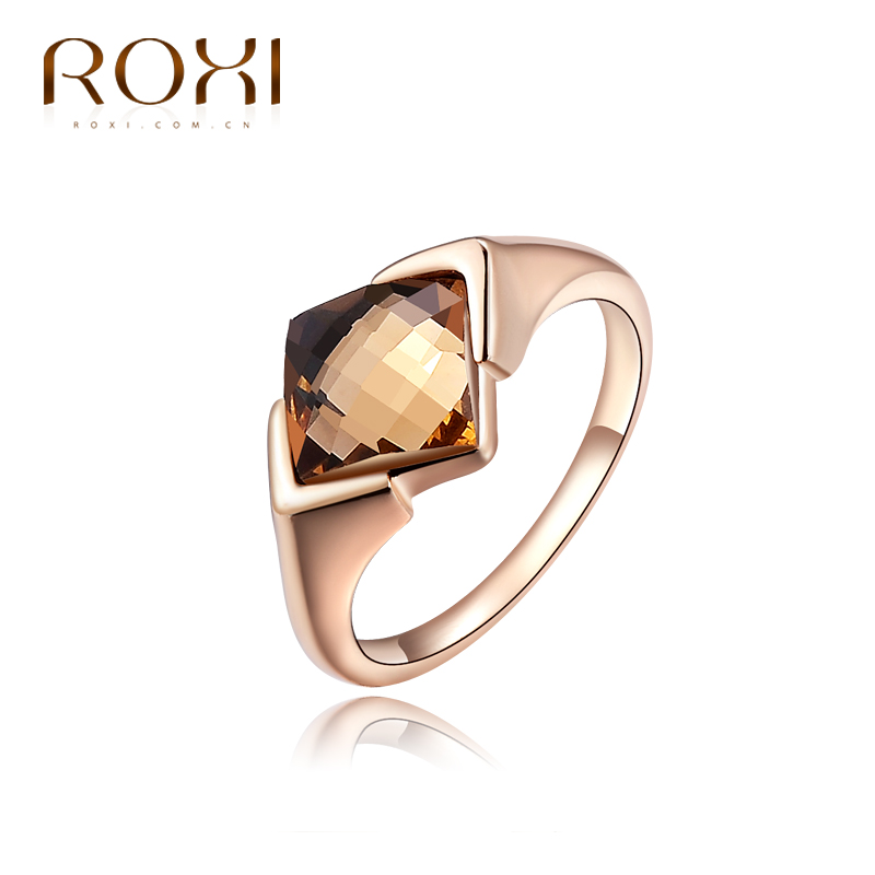 ROXI Exquisite Rings for women Rose Gold Color Zircon Fashion Jewelry Bague Bijoux Femme Engagement Ring Accessories anillos
