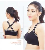 Dry Sports Bra Women Padded Wirefree Adjustable Shakeproof Fitness Underwear Push Up Seamless Yoga Running
