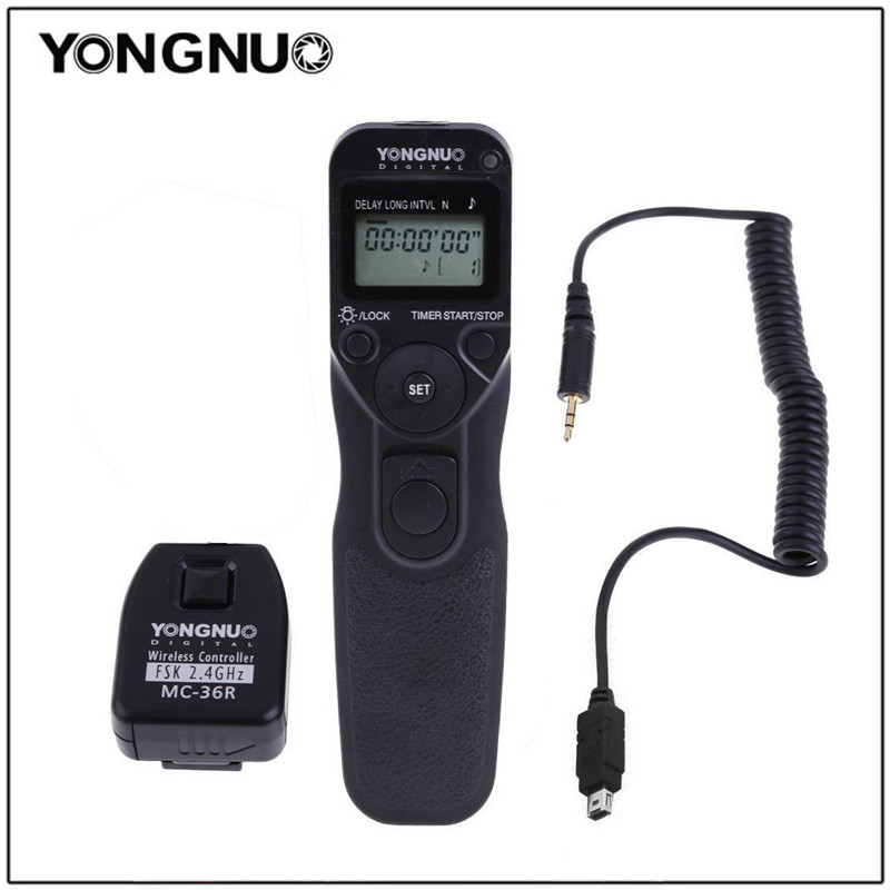 Yongnuo MC 36R wirless Time Remote Cord For Nikon For CANON 7D 50D 40D 30D 5D