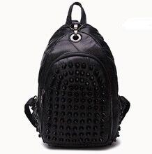 HD8018 оптовая 2017 новая мода Женщины рюкзак ретро заклепки полный овчины кожаный рюкзак