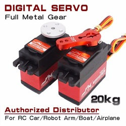 JX Servo PDI-6221mg 20kg Standard Digital Servo Metal Gear Large Torque 120 180 360 for 1:8 1:10 RC Car Airplane Robot Arm