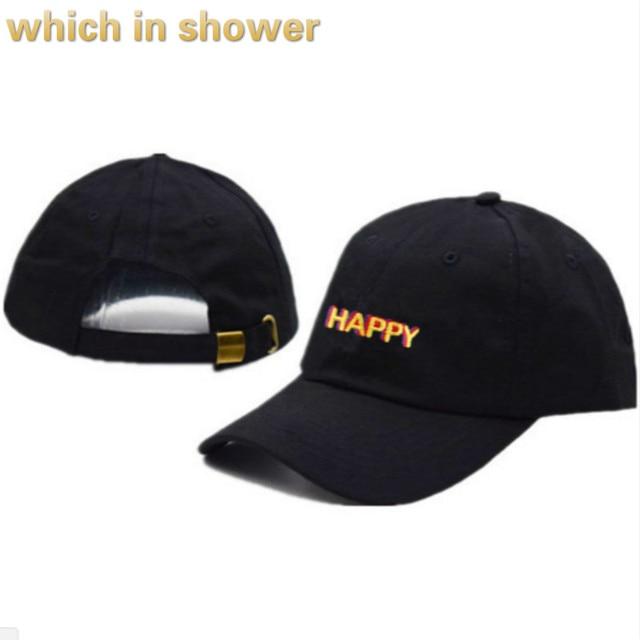 Mutlu Baba Şapka Kadınlar Için Işlemeli Unstructred Erkekler şoför şapkası beyzbol şapkası Snapback hip hop şapka Unisex Mutlu Şapka Damla Nakliye