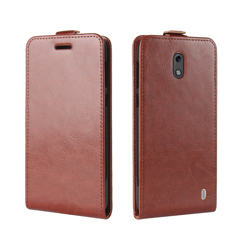 Vertical leather Flip Cover Case For Nokia 2 Dual Sim Cases Magnetic UP Down Case for nokia 2 1 Protective Phone Bag Fundas in Flip Cases from Cellphones Telecommunications