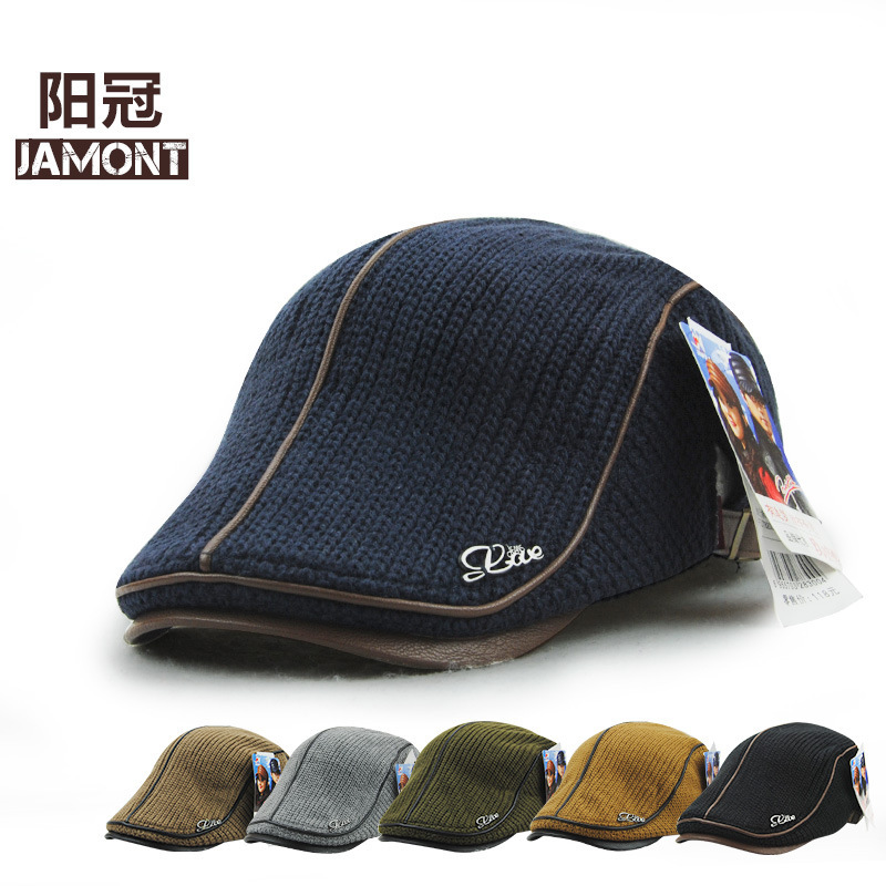 8567460c5cc93 2017 Knitting visor Quinquagenarian Winter Thickening Keep Warm casual  visor hat Restore Ancient Ways England 8300-in Visors from Apparel  Accessories on ...