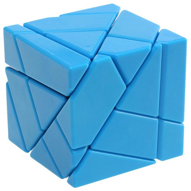 2016 Hot New Professional FangCun fantasma sem stickering cubos de velocidade cubo brinquedos para crianças presente azul amarelo - 50