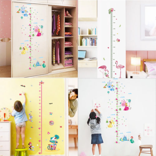 castle princess wall sticker vinyl decor kids height chart measure