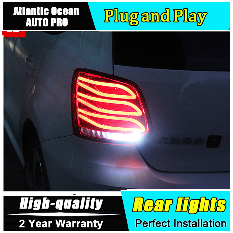 AUTO.PRO 2011-2017 For vw polo LED rear lights For vw polo LED taillights LED rear lamp car styling car led light car styling for suzuki swift taillights 2014 2015 for swift rear lights dedicated car light led taillight assembly