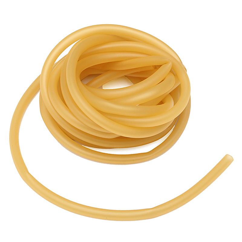 (5M without joint) 6x9mm Yellow Natural Latex Replacement Rubber Band Tube for Outdoor Hunting Slingshot Catapult Elastic 5x10mm 10meter natural latex slingshots rubber tube tubing elastic surgical