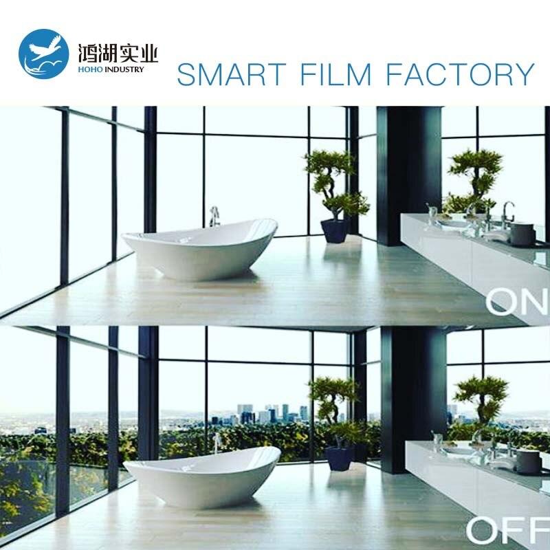 1 pc 93x60 cm, 1 pc 79x60 cm, 1 pc 79x48 cm Commutable Électrique Auto-adhésif PDLC Intelligent Film Fenêtre Porte pour Écran De Projection Arrière
