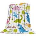 Милое одеяло с рисунком динозавра  мягкое теплое одеяло из микрофибры
