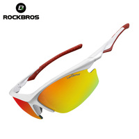ROCKBROS Bicycle Sunglasses Riding Bike Cycling Glasses Eyewears Goggles One Polarized Lens 4 Lenses 9 ColorsBike