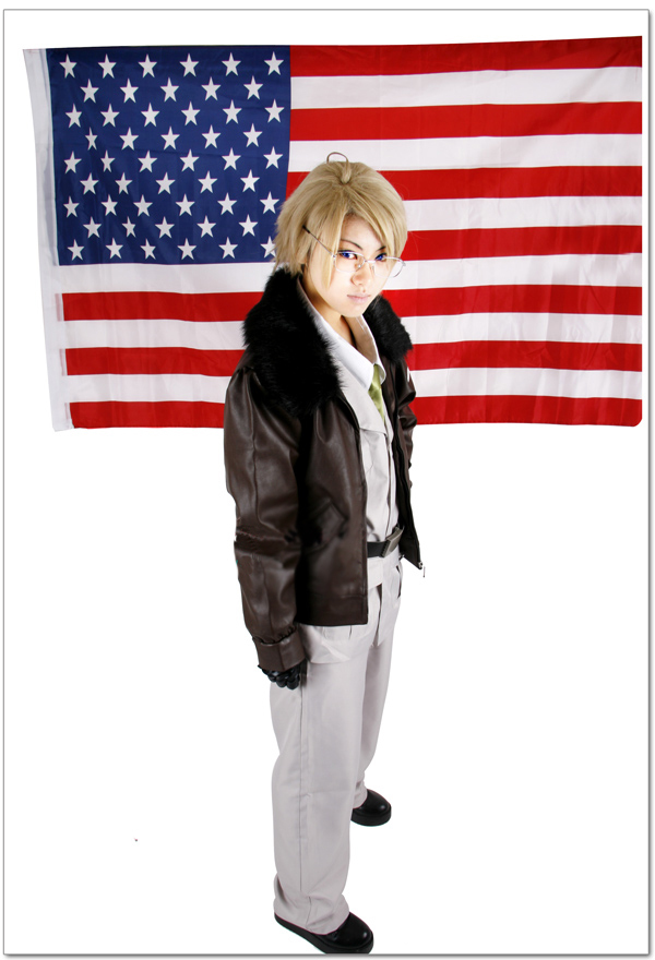 Free Shipping Axis Powers Hetalia United States of America Alfred F. Jones Uniform Anime Cosplay Costume