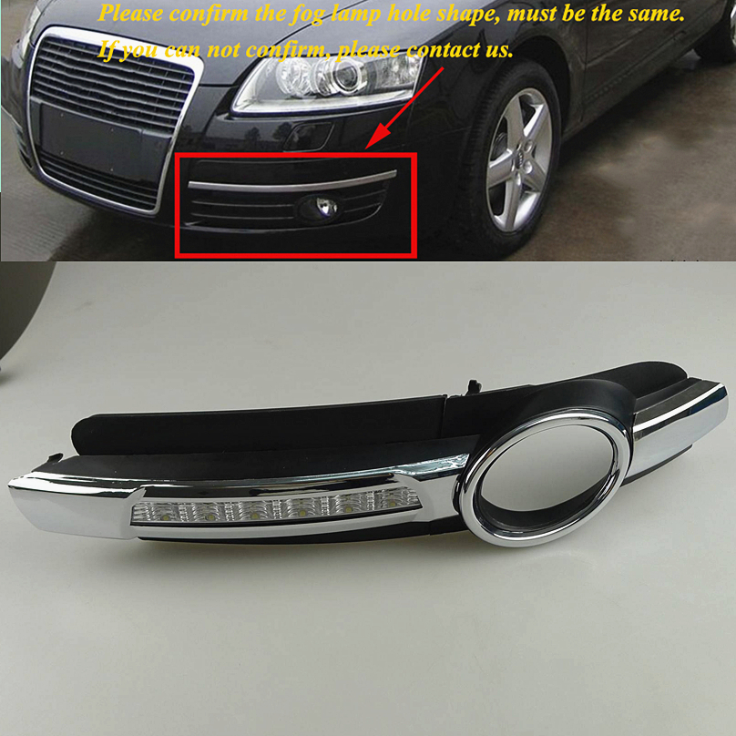 2 pcs car styling For AUDI A6 C6 2005 2006 2007 2008 LED DRL Daytime driving