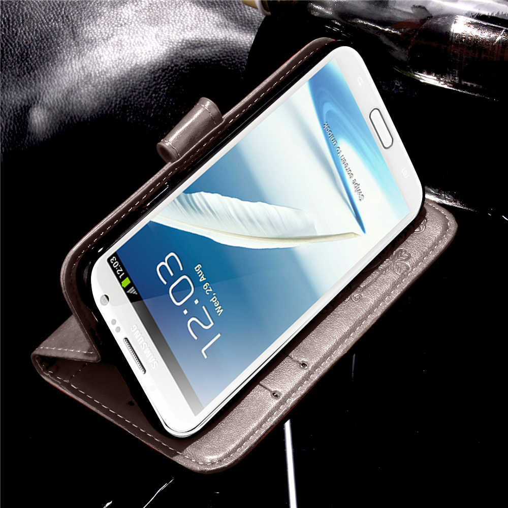 Luxury Leather Case For Samsung Galaxy Note 2 Case Wallet Flip Cover Capa For Coque Samsung Note 2 Note2 N7100 N7102 N7105 Case