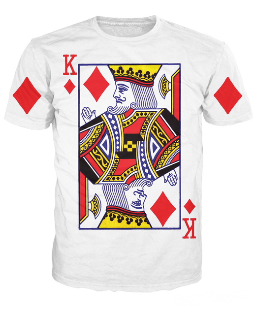 b21f461cefb 2018 new arrive King of Diamonds T-Shirt sexy tee Shirts Funny playing card  t shirt vibrant tee Sexy Casual tshirt for women men