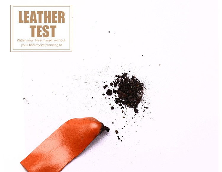 real leather testing