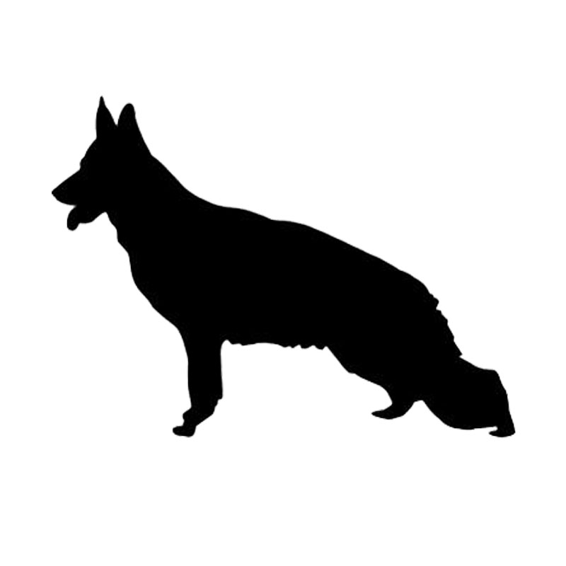 15.2*11.2CM German Shepherd Dog Vinyl Decal Car Styling Fashion Accessories Decorative Stickers C6-1821