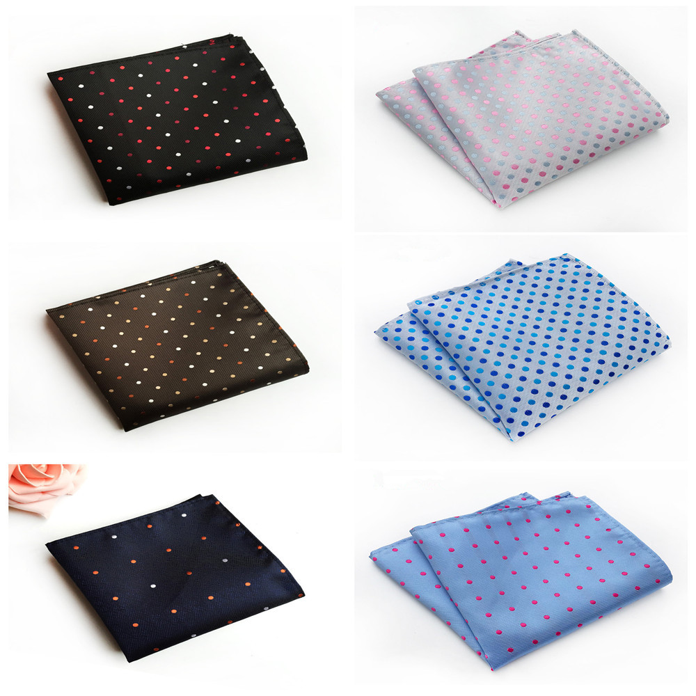 Boutique Men's Fashion Business Accessories Handkerchief High Quality Polyester Material Fashion Polka Dot Dress Pocket Towel