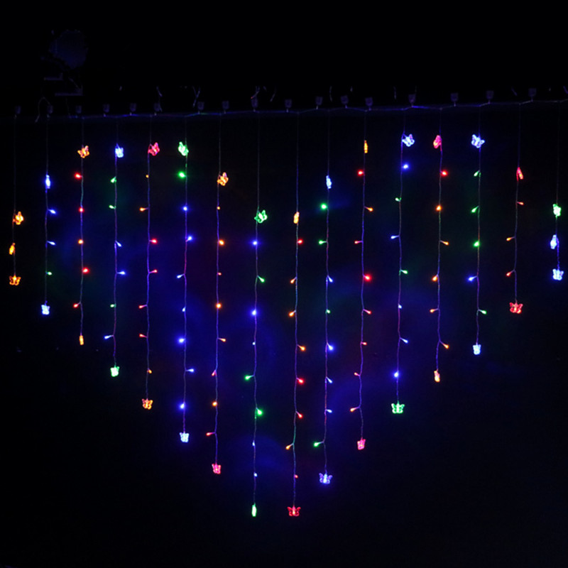 2 * 1.6M 110V / 220V Love Heart LED String Light Holiday Lights - Festlig belysning - Foto 2