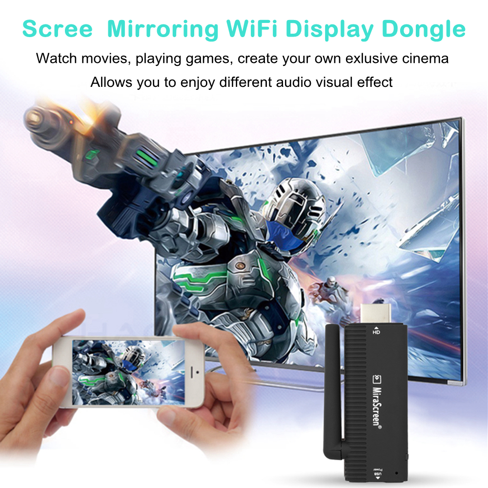 Mirascreen Wifi Display Hdmi Dongle Receiver Media