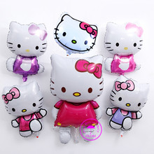 hot deal buy large balloons suppliers metallic ballons party decoration birthday girl party gifts huge cartoon cat hello kitty balloon