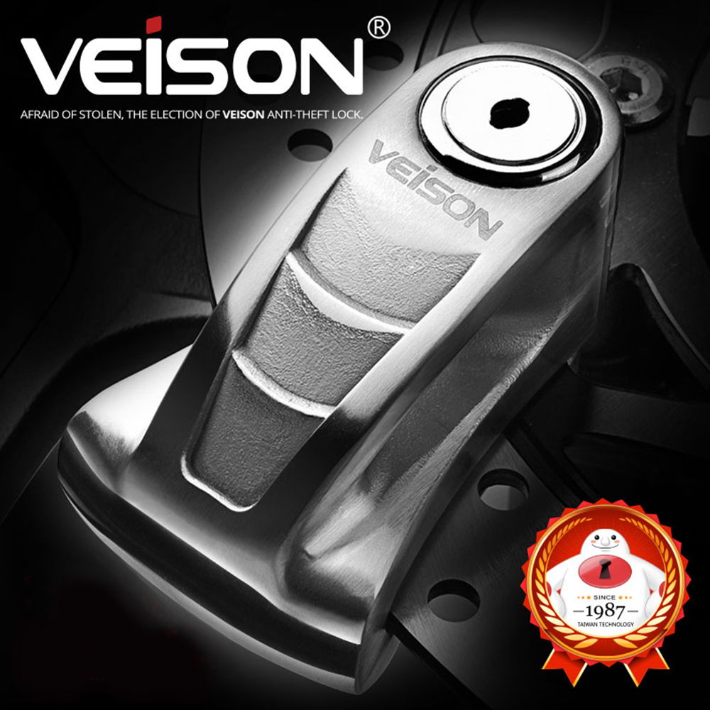 VEISON Safety Disc Lock Bicycle Anti-theft Motorcycle Scooter Motorcycle Rotor Brakes Waterproof Padlock Motorbike Security Lock