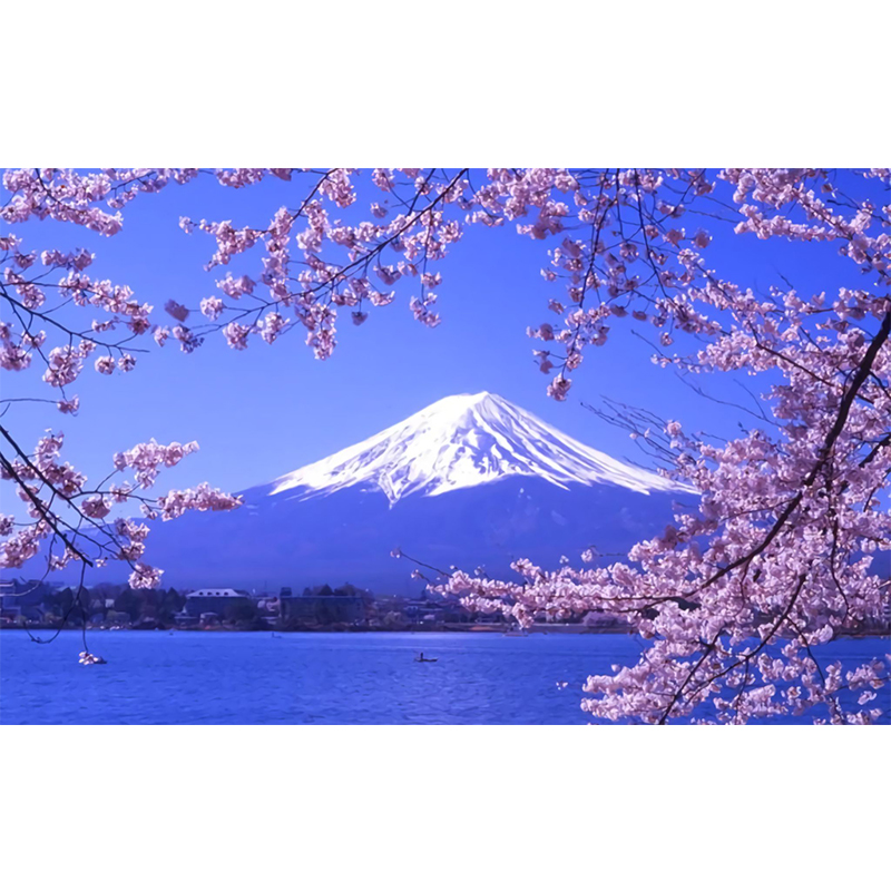 Yikela Mont Fuji Diamant Peinture Point De Croix Carre Plein Image De Strass Bricolage Diamant Mosaique Diamant Broderie Vente Aliexpress